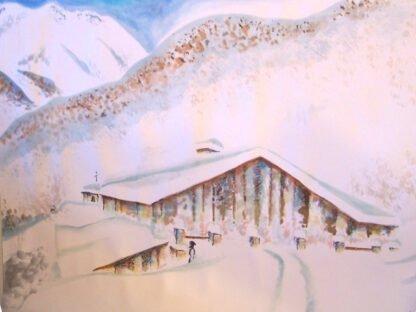 Pra 'd Mill con neve - Acquerello